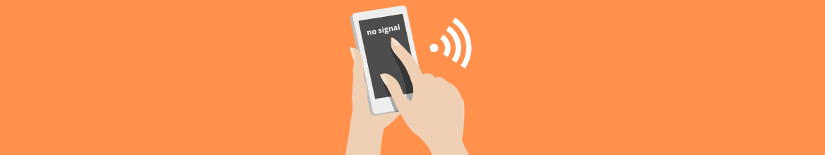 How do I measure the mobile signal with Iphone?